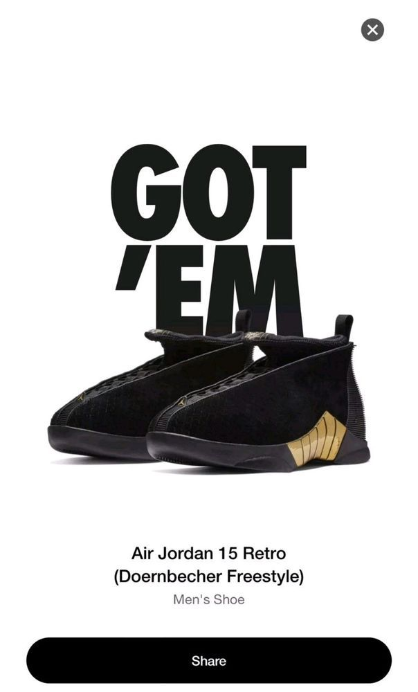f43370a6b500ea Air Jordan 15 XV Retro Doernbecher size 12  fashion  clothing  shoes   accessories