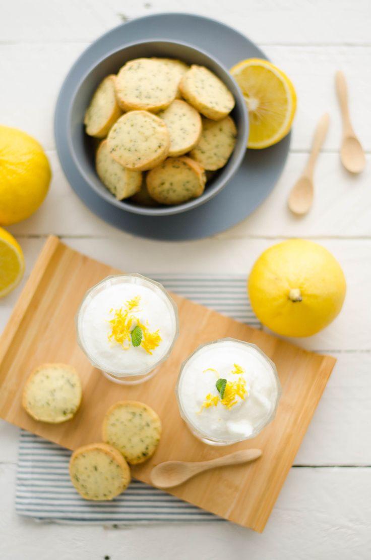 Mousse au citron bergamote & sablés au thé Earl Grey