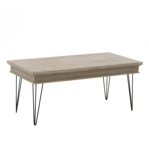 WOODEN TABLE IN NATURAL 110X54X47
