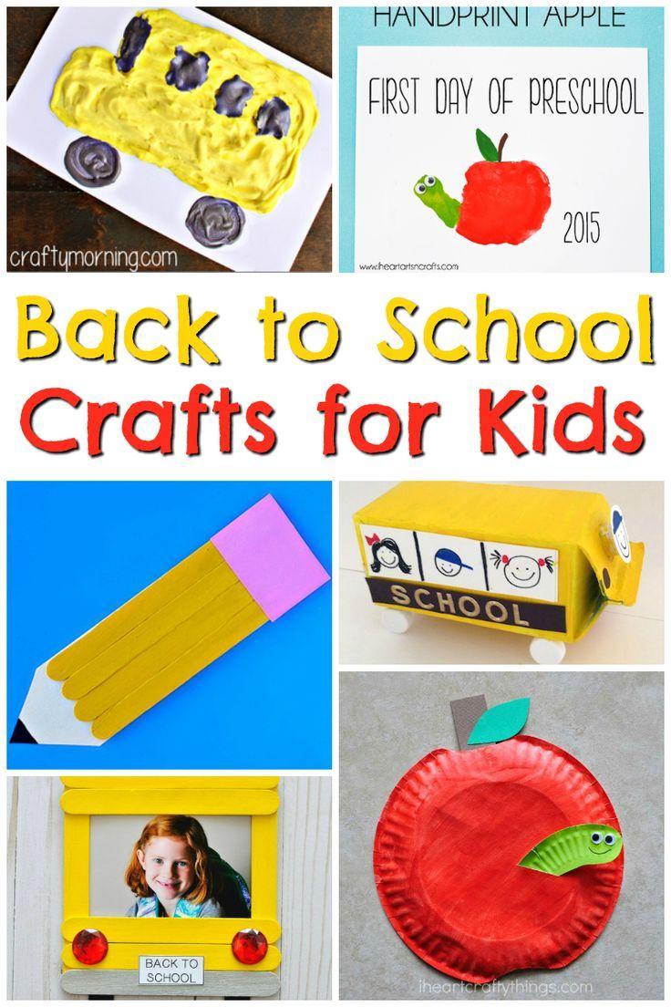 Back To School Crafts Back To School Crafts For Kids School