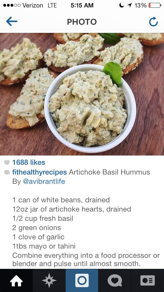 White beans, Hummus and Artichokes on Pinterest