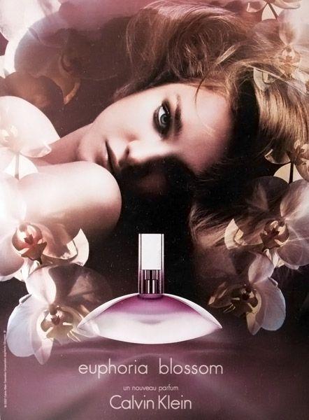 Publicité du parfum Euphoria Blossom (2007 - 2008) de Calvin Klein