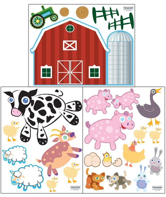 Kids Room Wall Decals Farm Wall Decals Farm Animal Decals: 18 Best Fun Farm & Barnyard Kids Room Images On Pinterest