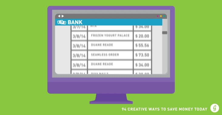 Creative Ways to Save Money: Check Your Account