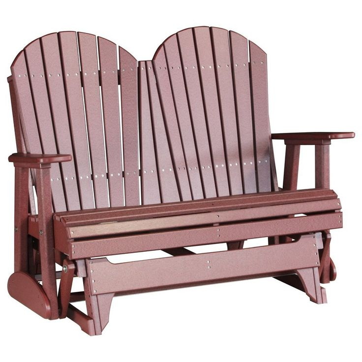 Poly Adirondack Porch Glider 4 Foot $650.00 - A comfortable outdoor chair for two can be hard to come by. This is where the Adirondack Porch Glider 4 wins the race. It stands tall on all the aspects of comfort and design and beats its competitors hands down. Designed by the experienced Amish craftsmen, this environment friendly glider is available in over 15 color combinations. Only high quality stainless steel screws have been used to assemble this product, thus enhancing its life.