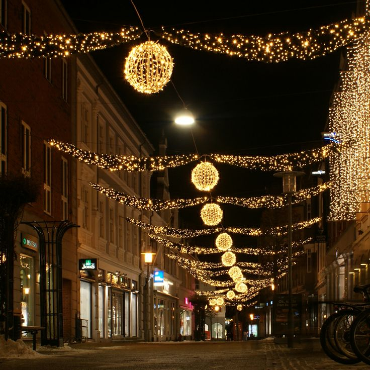 The streets of Viborg, Denmark, during the holidays...