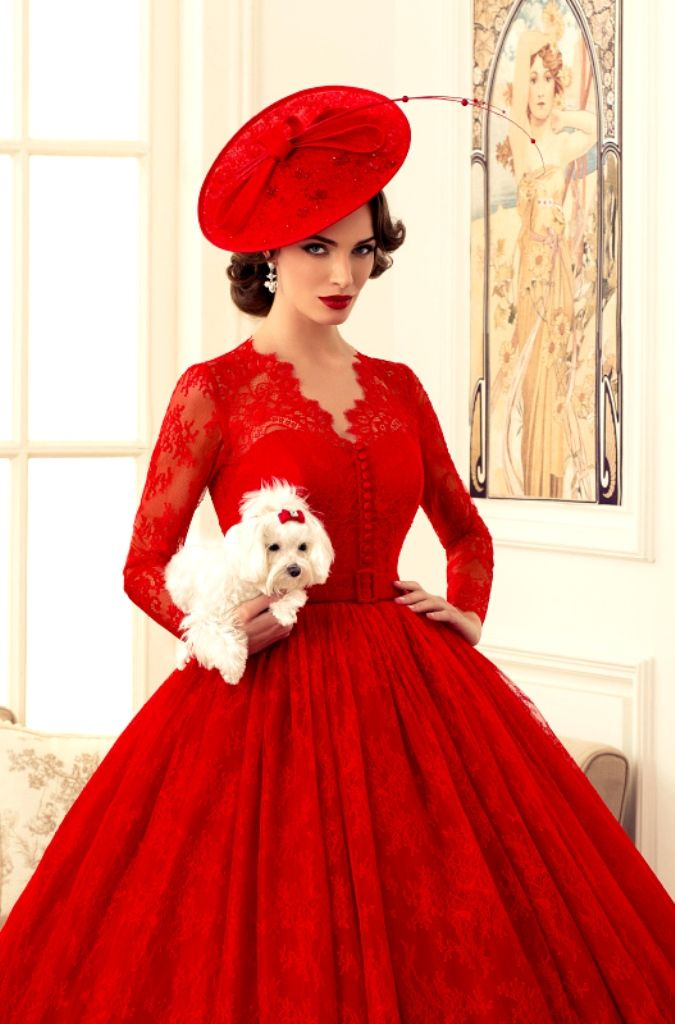 Fashion Red Frock from:zara