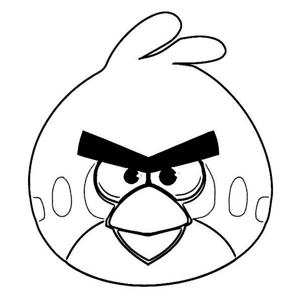 Angry Birds The Legendary Red Bird In Angry Bird Coloring Page