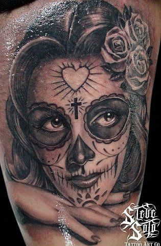 17 best images about catrina santa muerte on pinterest men tattoos designs sugar skull. Black Bedroom Furniture Sets. Home Design Ideas