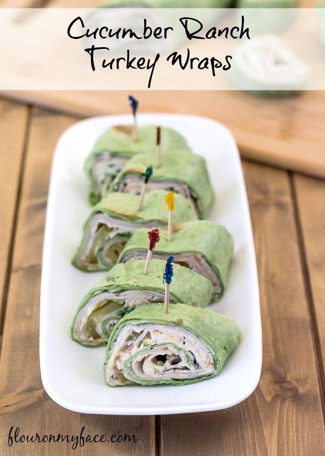 Hidden Valley Cucumber Ranch Turkey Wraps Recipe via flouronmyface.com