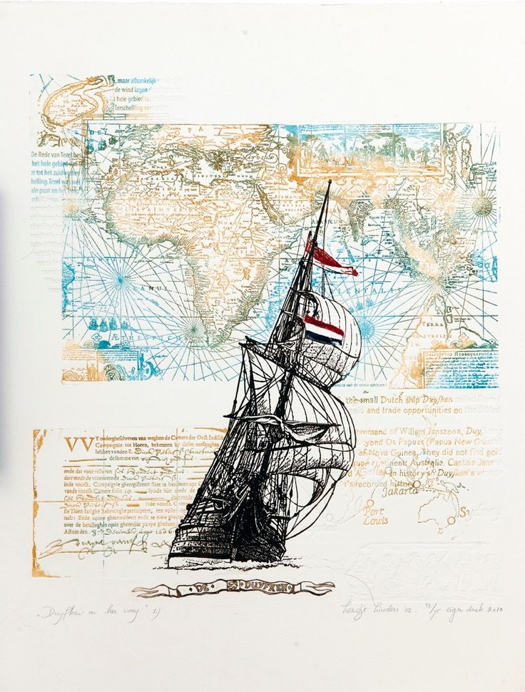 'Duyfken on her way by Leentje Linders