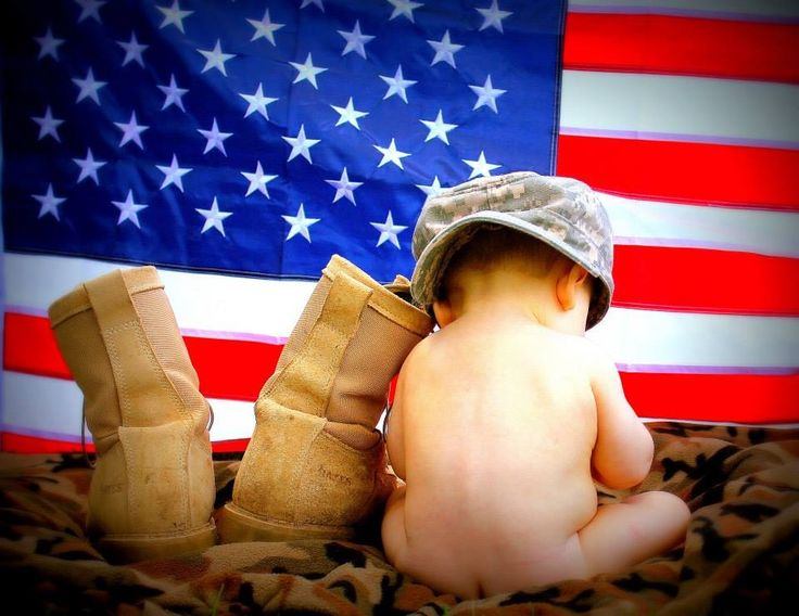 Army 6 month baby picture