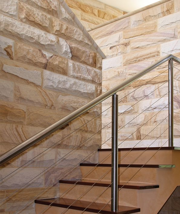 Sandstone Wall & Stairs Rockfaced Sydney