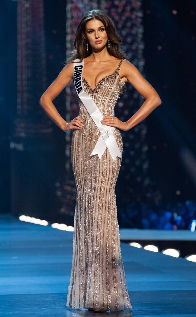 91a1e52a66c Miss Canada from Miss Universe 2018 Evening Gown Competition Marta Stepien