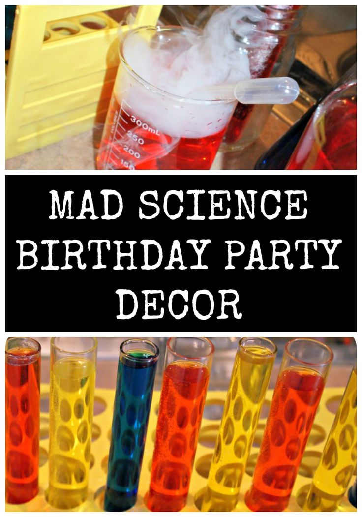 Mad Science Birthday Party Decor