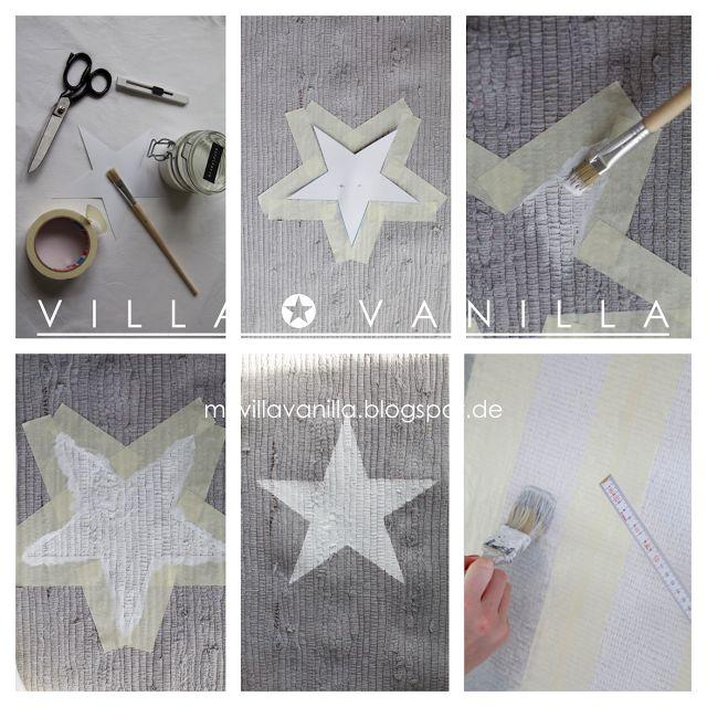 Villa Vanilla ✪: DIY estrellas o rayas alfombra Como hacerla, paso a paso!