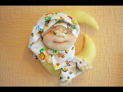 Сплюшка в чулочной технике / sleepyhead doll of stockings - YouTube
