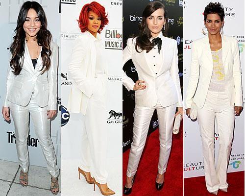 Черные ботинки белый костюм