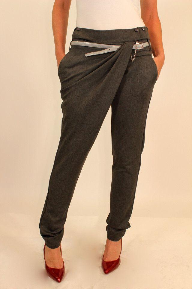"""Серые брюки на запах 42-48 р: продажа, цена в Одессе. брюки женские от """"Оптовый интернет-магазин по продаже женской одежды от производителя GOLS-OPT ( платья, юбки )"""" - 101021608"""