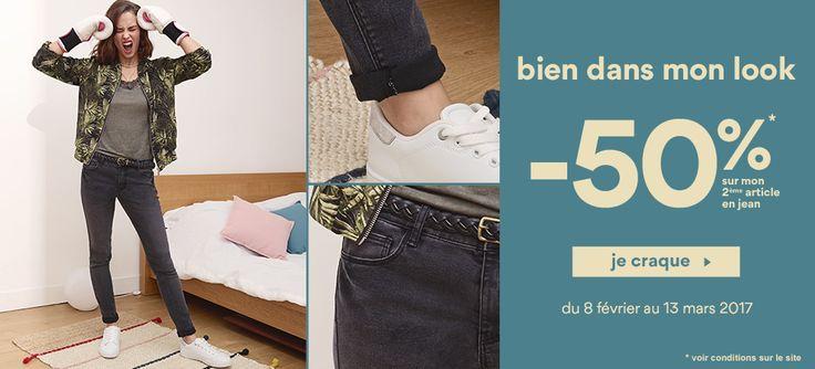 Vente en ligne de chaussures, vêtements, accessoires et lingeries à petits prix  pour la femme, l'homme, l'enfant et le bébé. Livraison et retour gratuits en magasin.