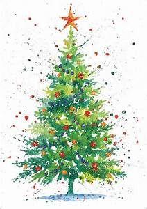 25+ besten Ideen zu Watercolor Christmas Cards auf Pinterest | Aquarell Weihnachten, Diy Baum …