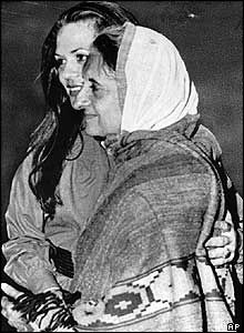 Sonia Gandhi and her mother-in-law Prime Minister Indira Gandhi