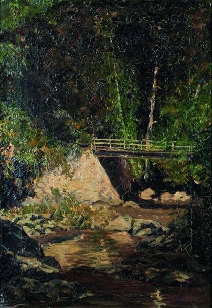 Carel Lodewijk Dake Jr. - Brug over een riviertje