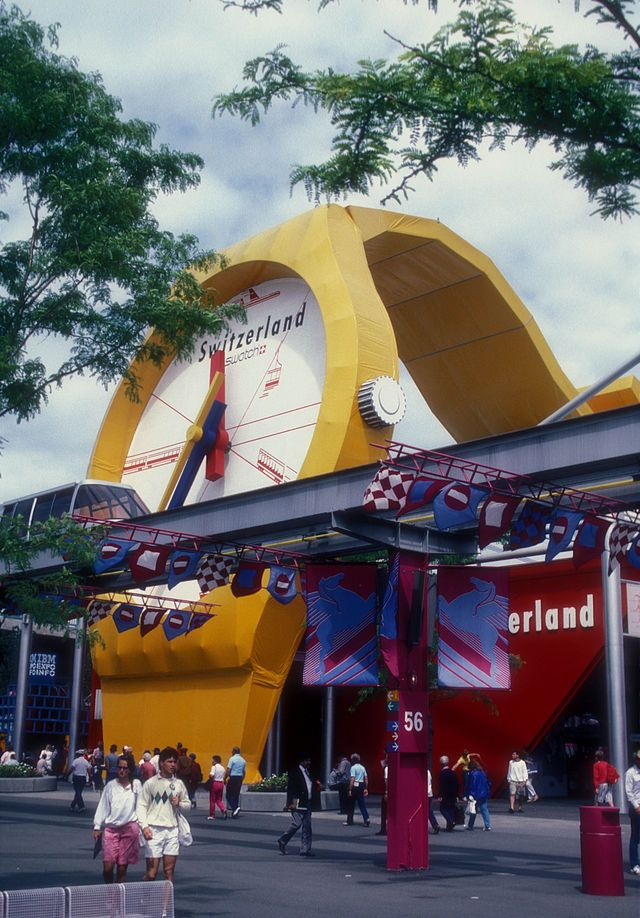 Switzerland Pavilion at Expo 86 World's Fair, Vancouver British Columbia, Canada. #Expo86 #WorldsFair #Vancouver #BritishColumbia #Canada #raiexpo #expo2015