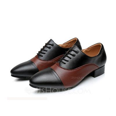 [US$ 56.99] Men's Real Leather Flats Modern Ballroom Tango With Lace-up Dance Shoes (053103991)