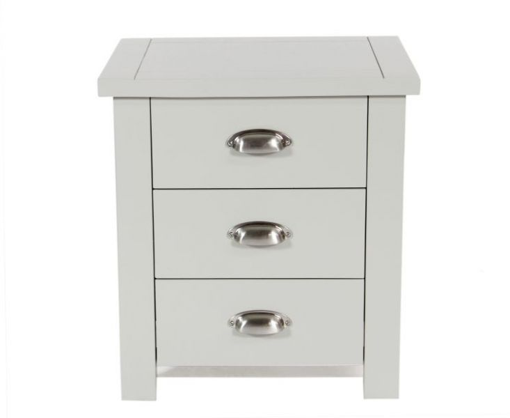 Somerset Grey 3 Drawer Bedside Table Fantastic Furniture