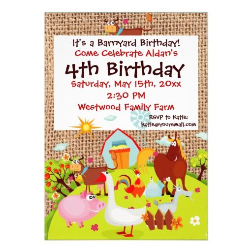 15 Best Images About Petting Zoo Party Invitations On