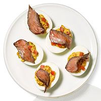 Rachel Ray's Steakhouse Deviled Eggs