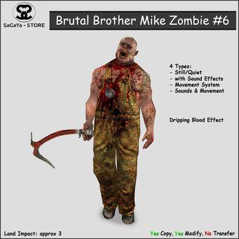 Secondlife, Second Life Marketplace, SaCaYa, Mesh, Zombie, Darkness, Halloween