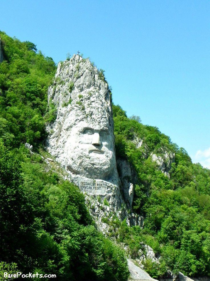 Sculpture of Decebalus at the Danube Boilers