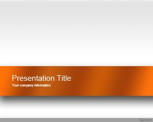 Free Orange Engage PowerPoint template is a professional looking template with master slide design containing an orange style over white background