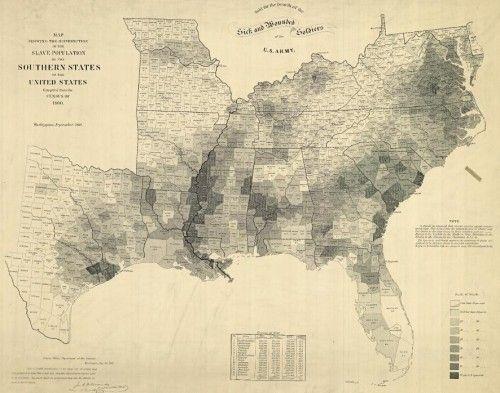 1860 Slave Census Map