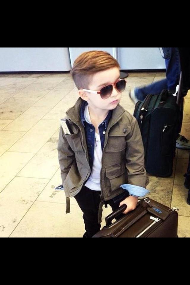 Stylish kid, thats quite a hair cut