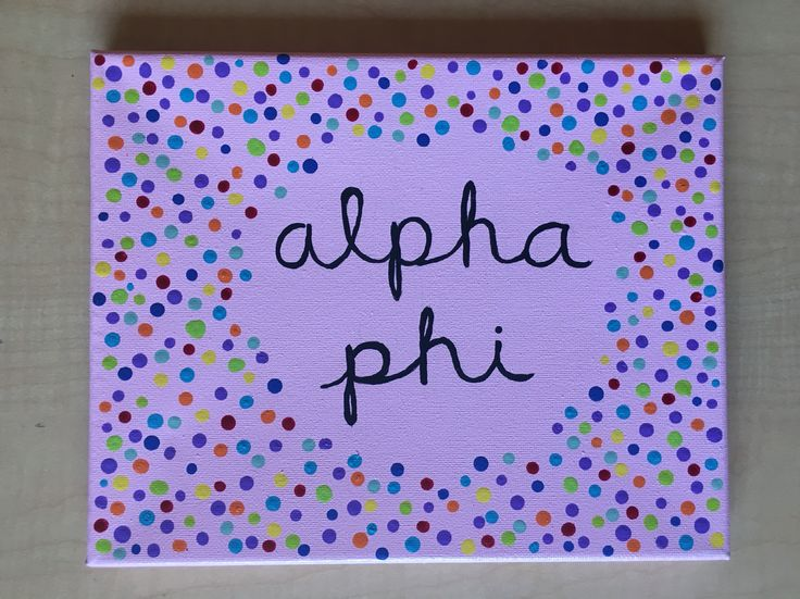 Big Little sorority canvas craft Alpha Phi
