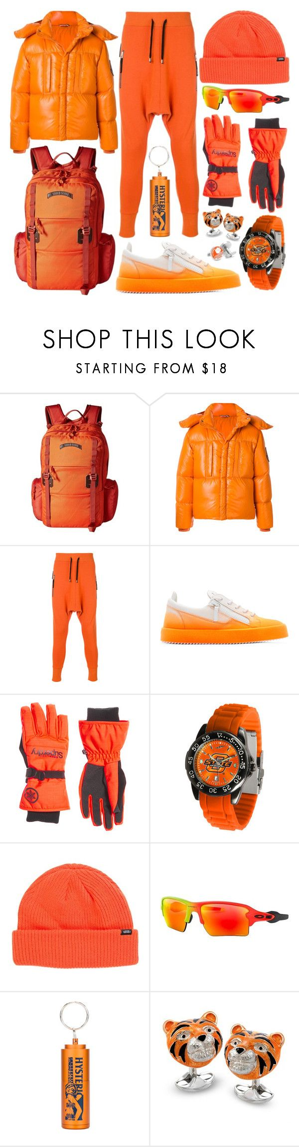"""""""Orange Is The News"""" by modaehestilo ❤ liked on Polyvore featuring Burton, Moncler, UNCONDITIONAL, Giuseppe Zanotti, Superdry, Vans, Oakley and HYSTERIC GLAMOUR"""