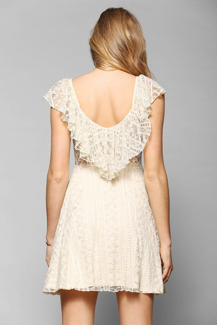 Kimchi blue valencia lace flutter back dress - Urban outfitters valencia ...