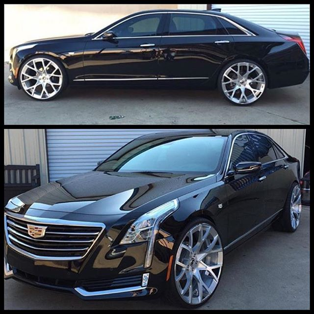 Major pressure applied wit this brand new Cadillac CT6 on monoblock Forgiato 24s. This not ya Gma caddy right here Lol #cadillac #forgiato #forgiatos #24s #custom #carporn