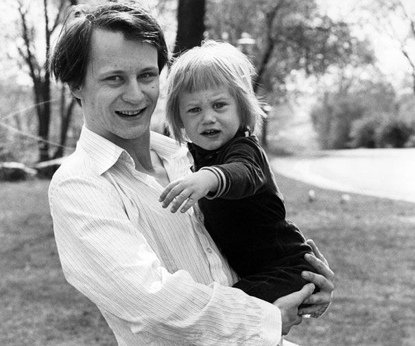 Stellan Skarsgard And A 2-Year-Old Alexander Skarsgard, 1978