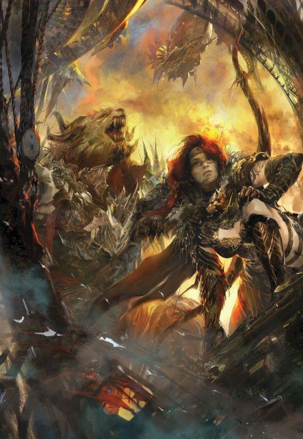 Rytlock and Eir by Jamie Ro | #ConceptArt #GuildWars2