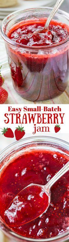 Easy Small-Batch Spiked Strawberry Jam with Grand Marnier | www.savingdessert.com