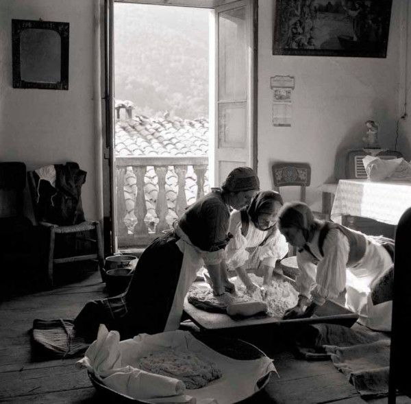 Women kneading Dough in Desulo - Sardinia, Italy, by Mario De Biasi, 1955