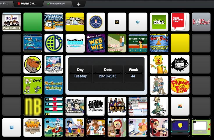 Digital Citizenship symbaloo including cyberbullying, internet safety and awareness, safe surfing and a variety of other topics for K-8.