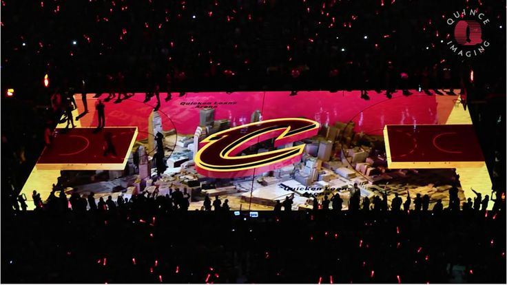 3D projection mapping for the Cleveland Cavaliers by Quince Imaging