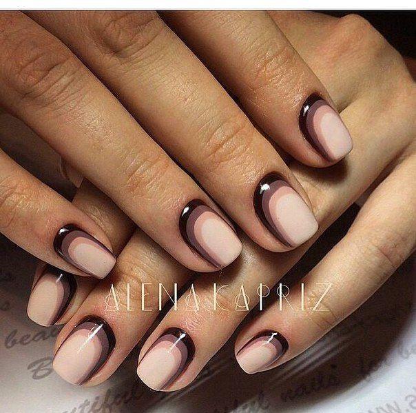 Шоколадные ногти дизайн