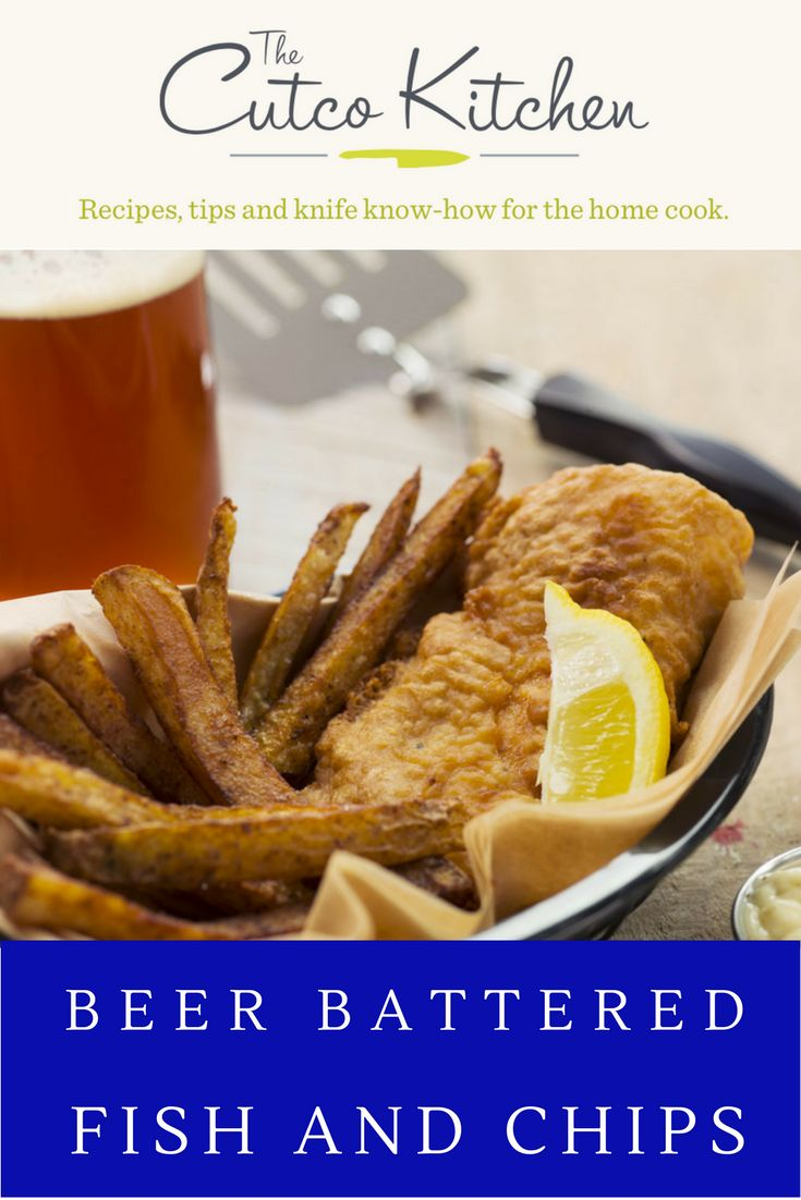 Beer battered fish and chips recipe dishmaps for Best beer battered fish