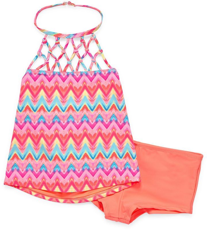 Arizona Girls Chevron Bikini Set - Big Kid
